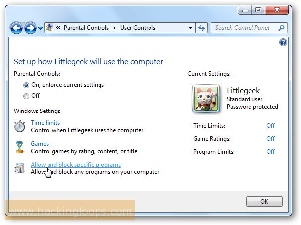 How To Use Parental Controls in Windows 7