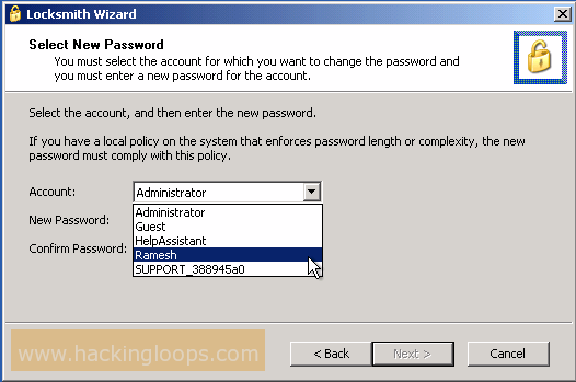 How to hack admin or administrator account